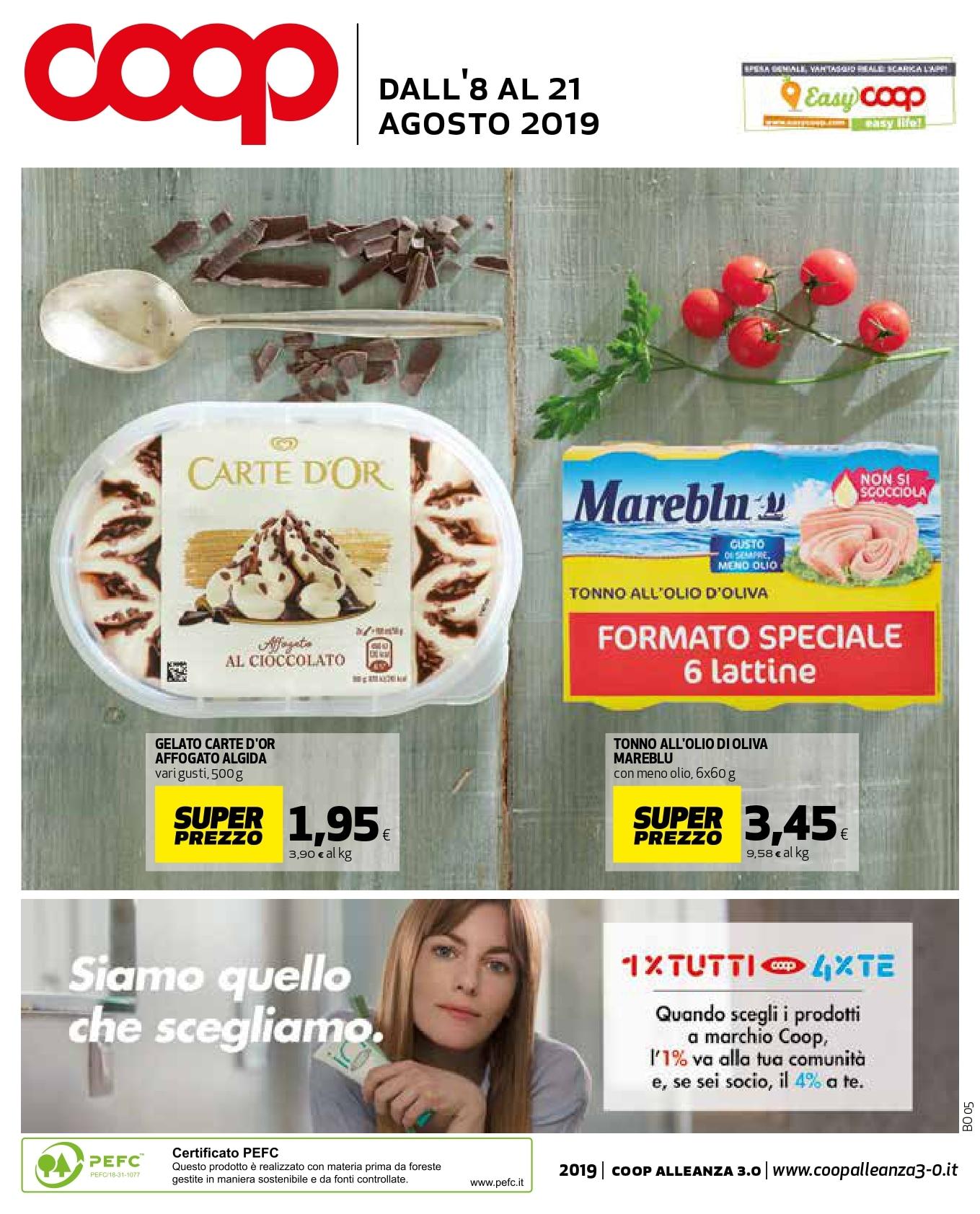 Volantino Coop 8 Agosto - 21 Agosto 2019