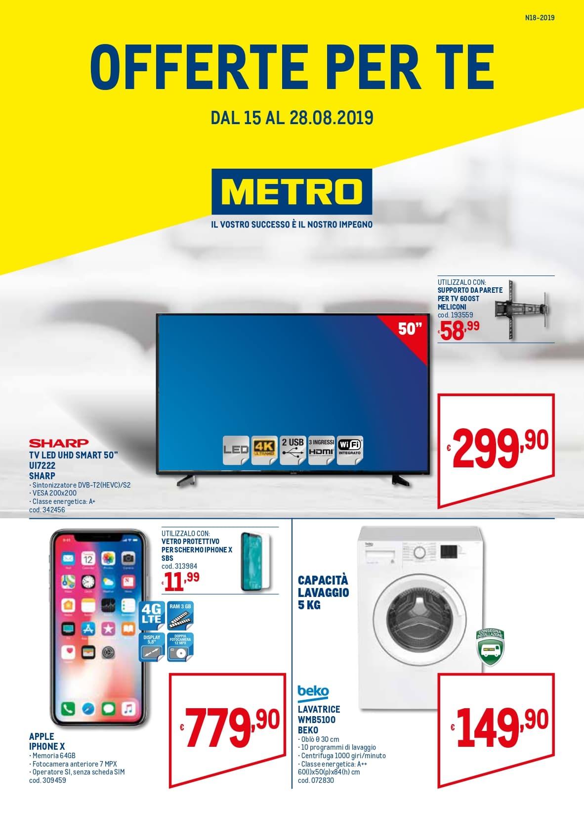 Volantino Metro 15 Agosto - 28 Agosto 2019