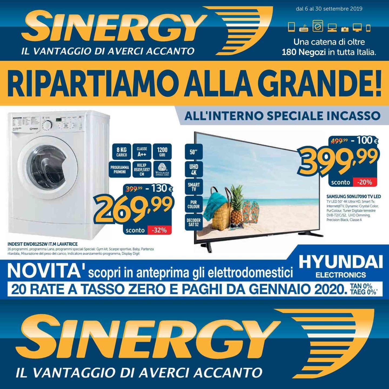 Volantino Sinergy 6 Settembre - 30 Settembre 2019