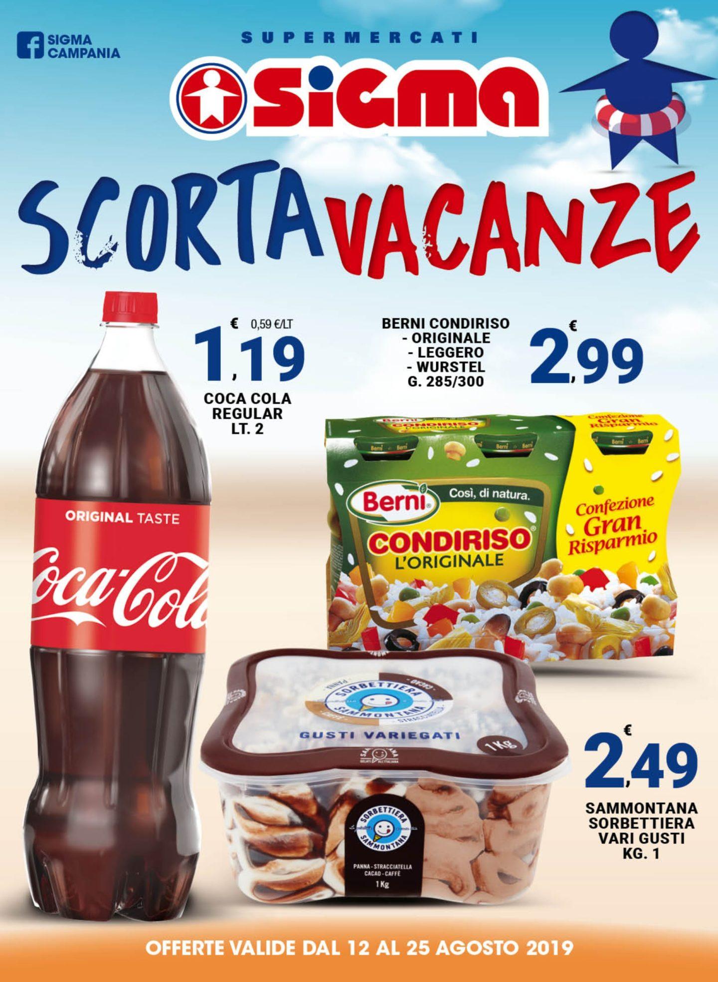 Volantino Sigma Supermercati 12 Agosto - 25 Agosto 2019