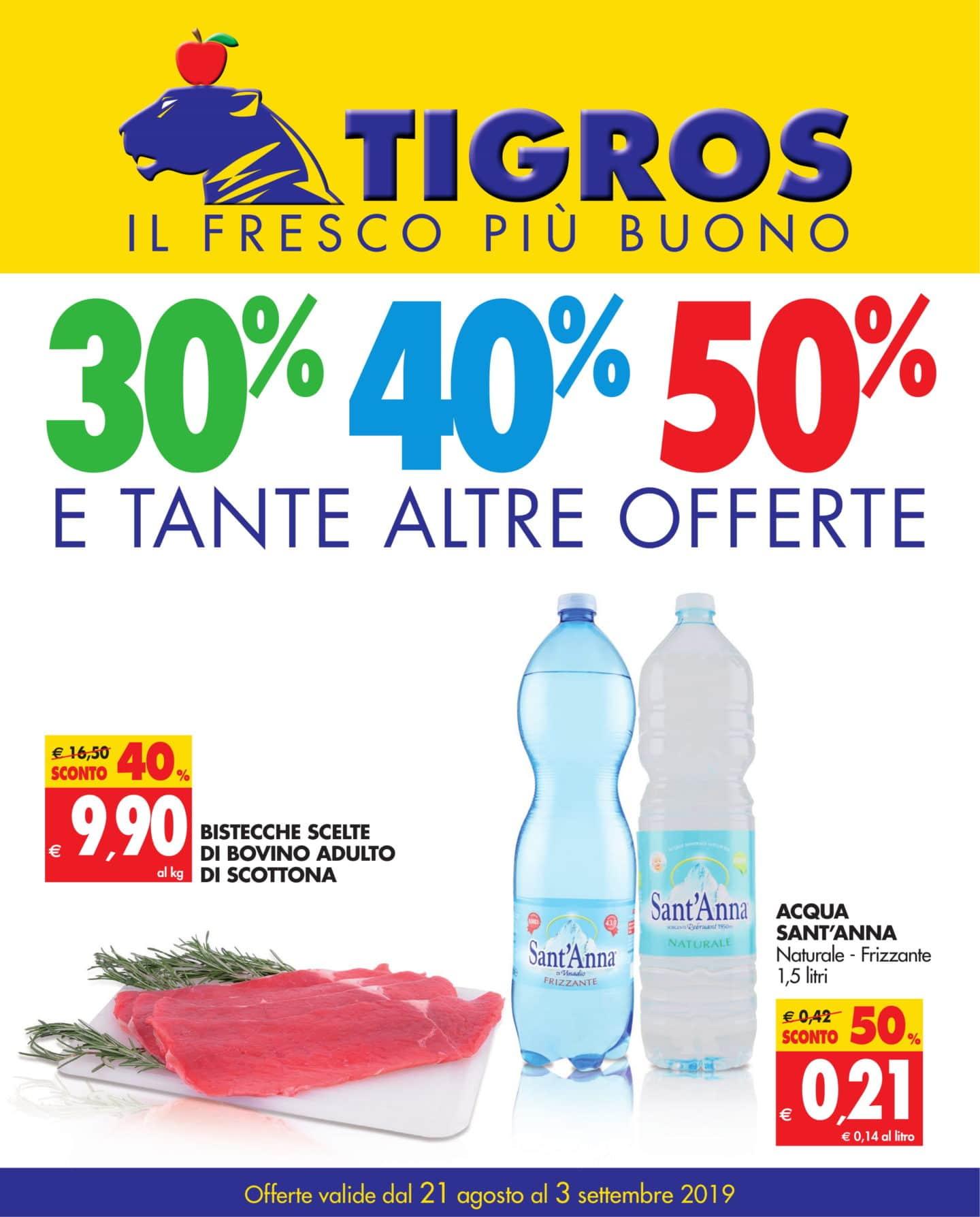 Volantino Tigros 21 Agosto - 3 Settembre 2019