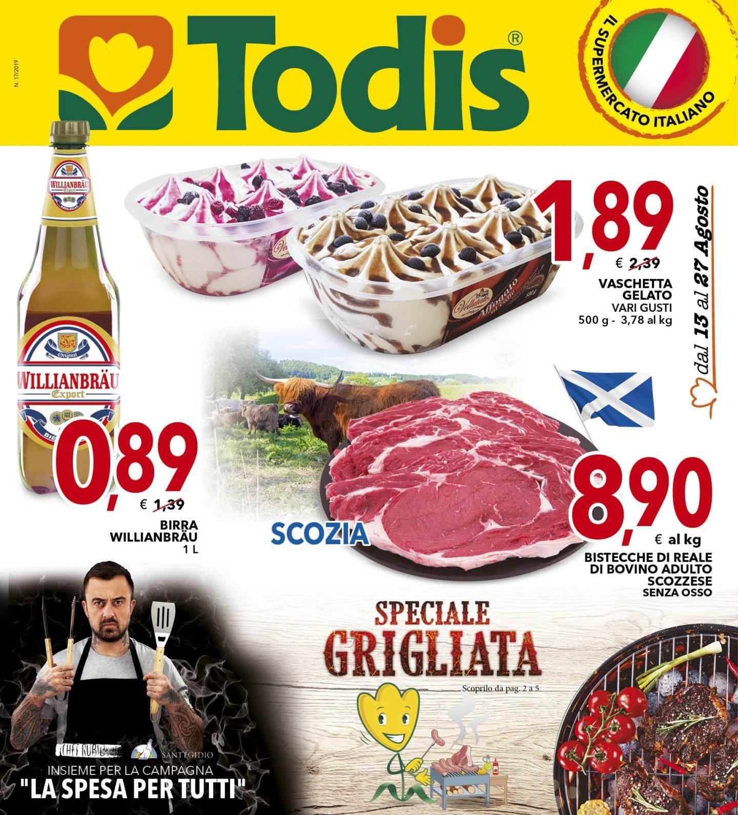 Volantino Todis 13 Agosto - 27 Agosto 2019