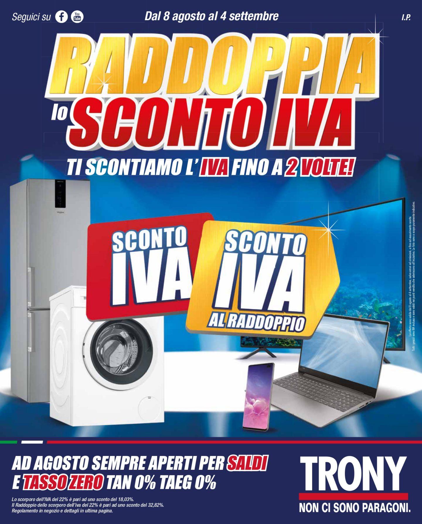 Volantino Trony 8 Agosto - 4 Settembre 2019