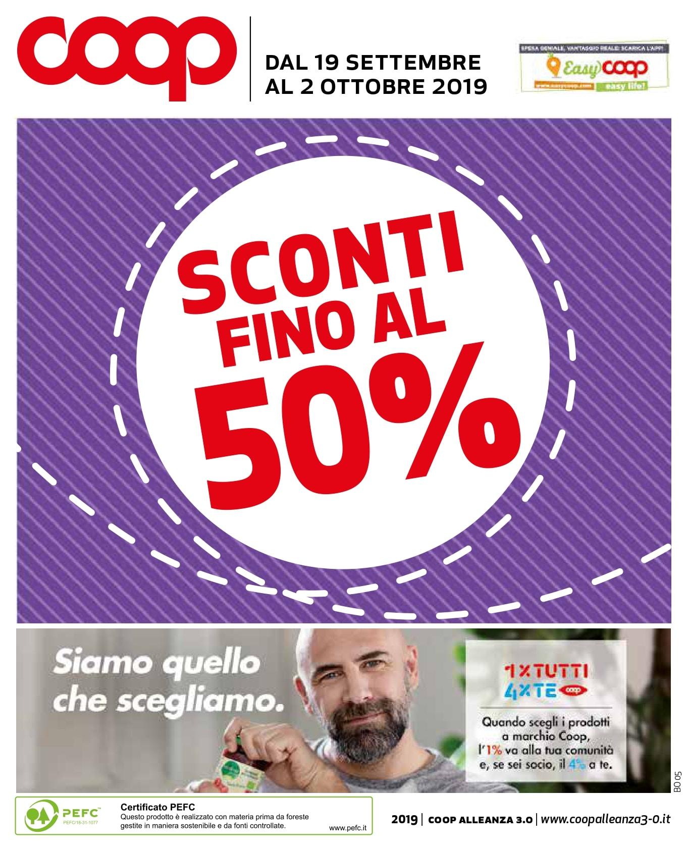 Volantino Coop 19 Settembre - 2 Ottobre 2019