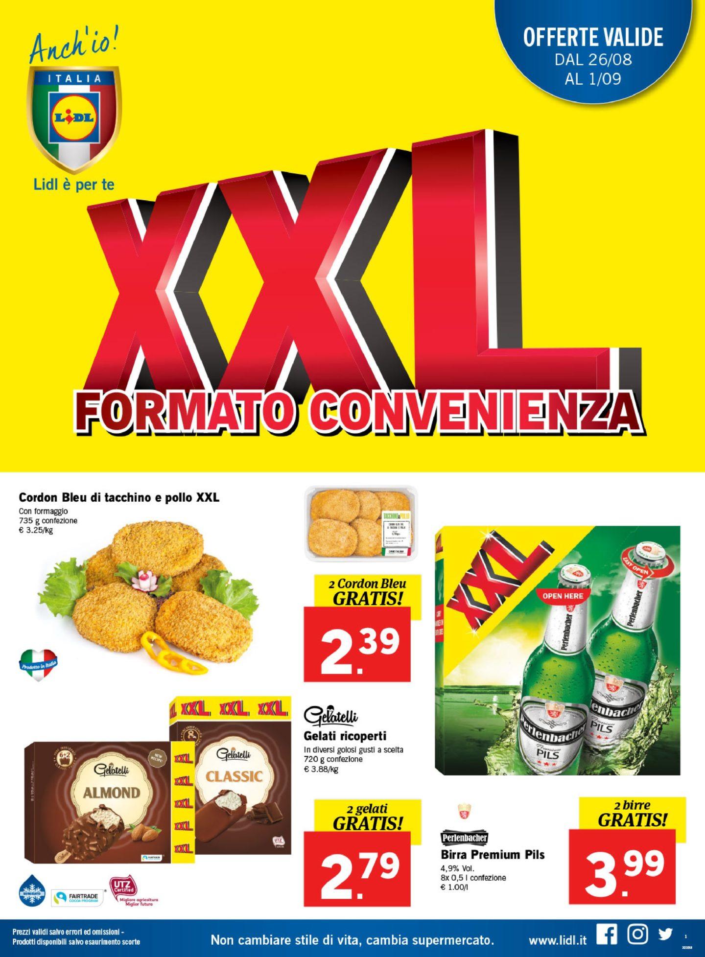 Volantino Lidl 26 Agosto - 1 Settembre 2019