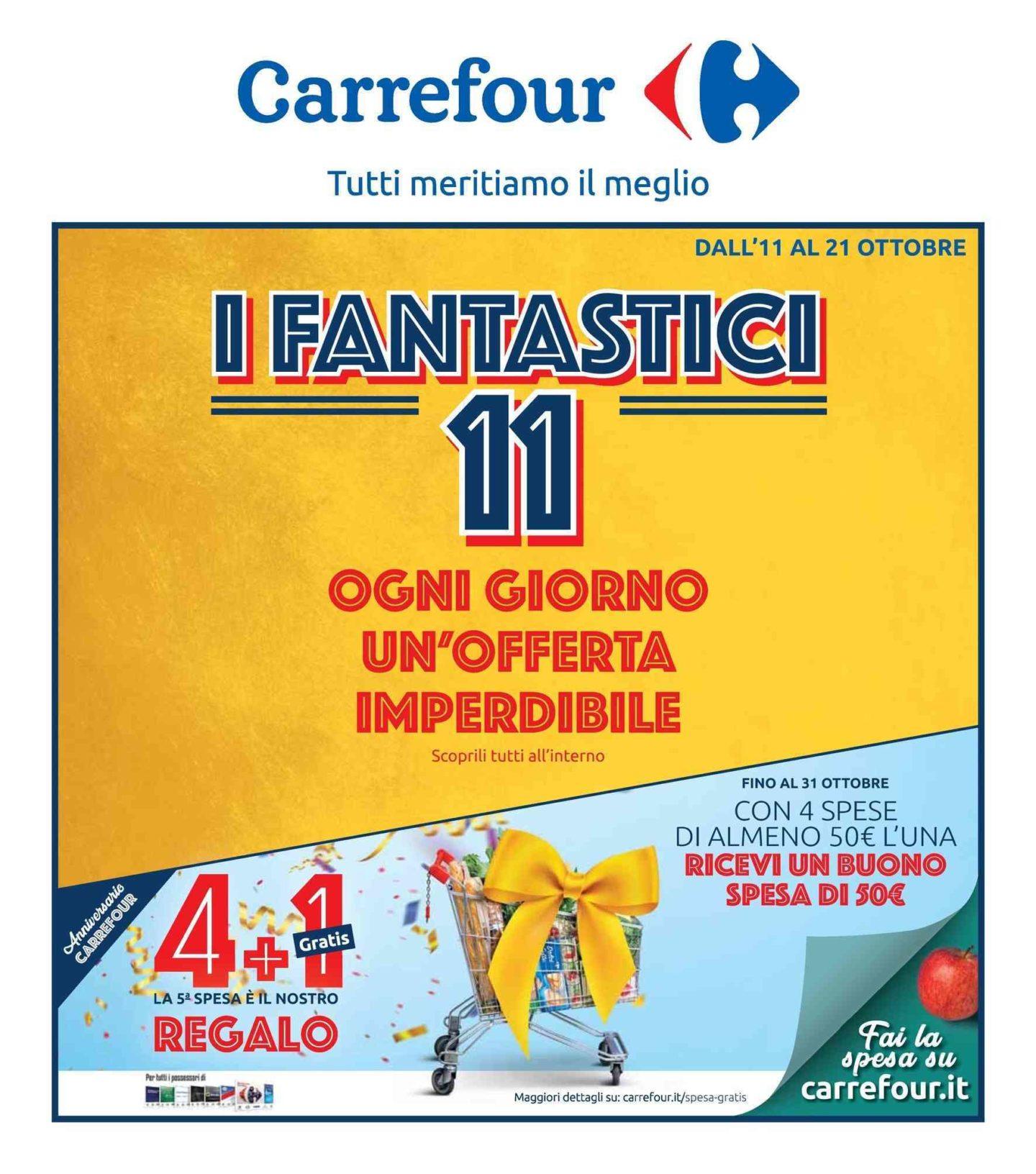 Volantino Carrefour 11 Ottobre - 21 Ottobre 2019