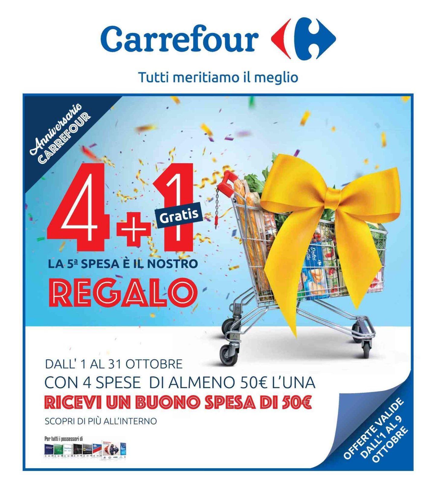 Volantino Carrefour 1 Ottobre - 9 Ottobre 2019