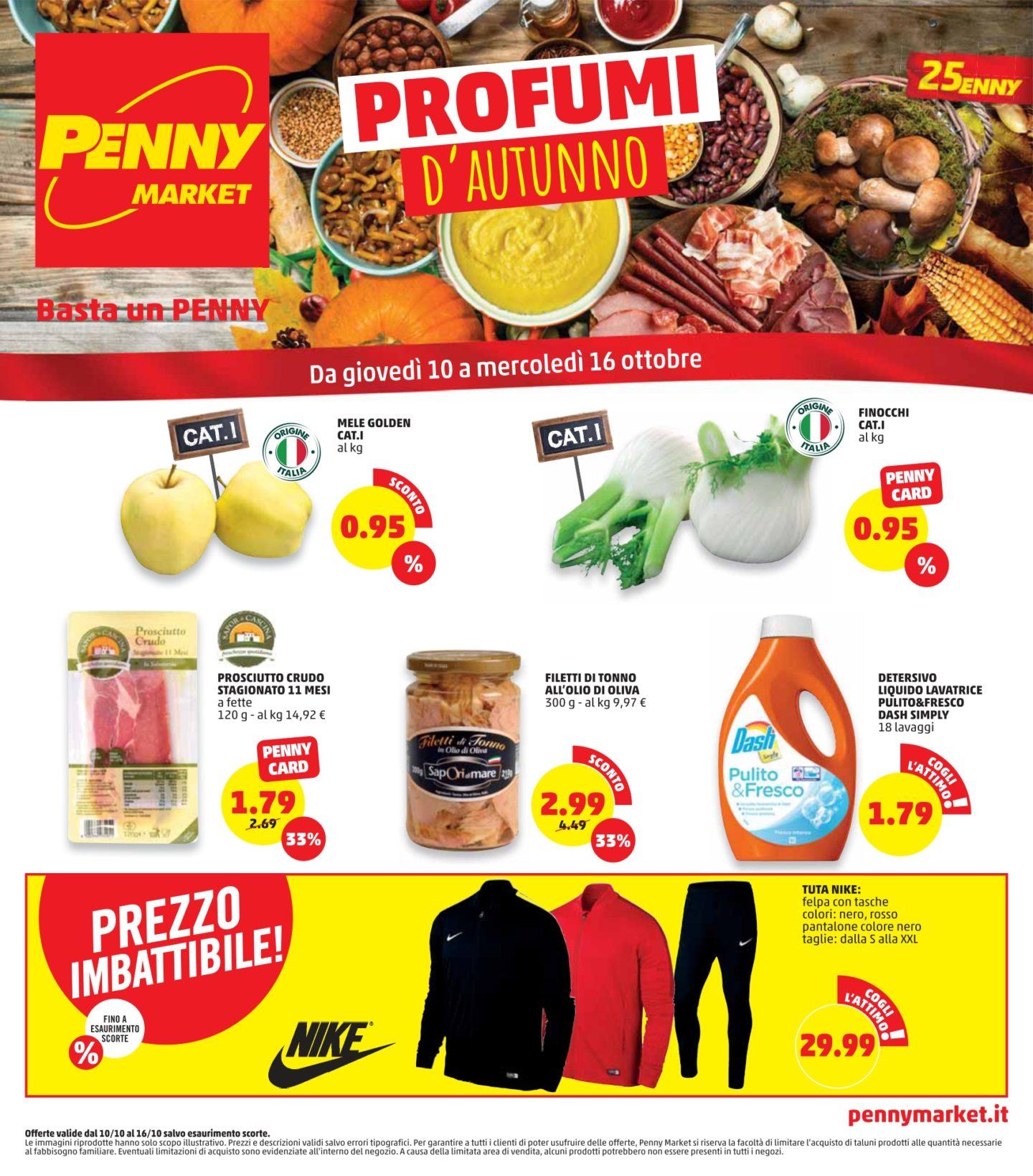 Volantino Penny Market 10 Ottobre - 16 Ottobre 2019