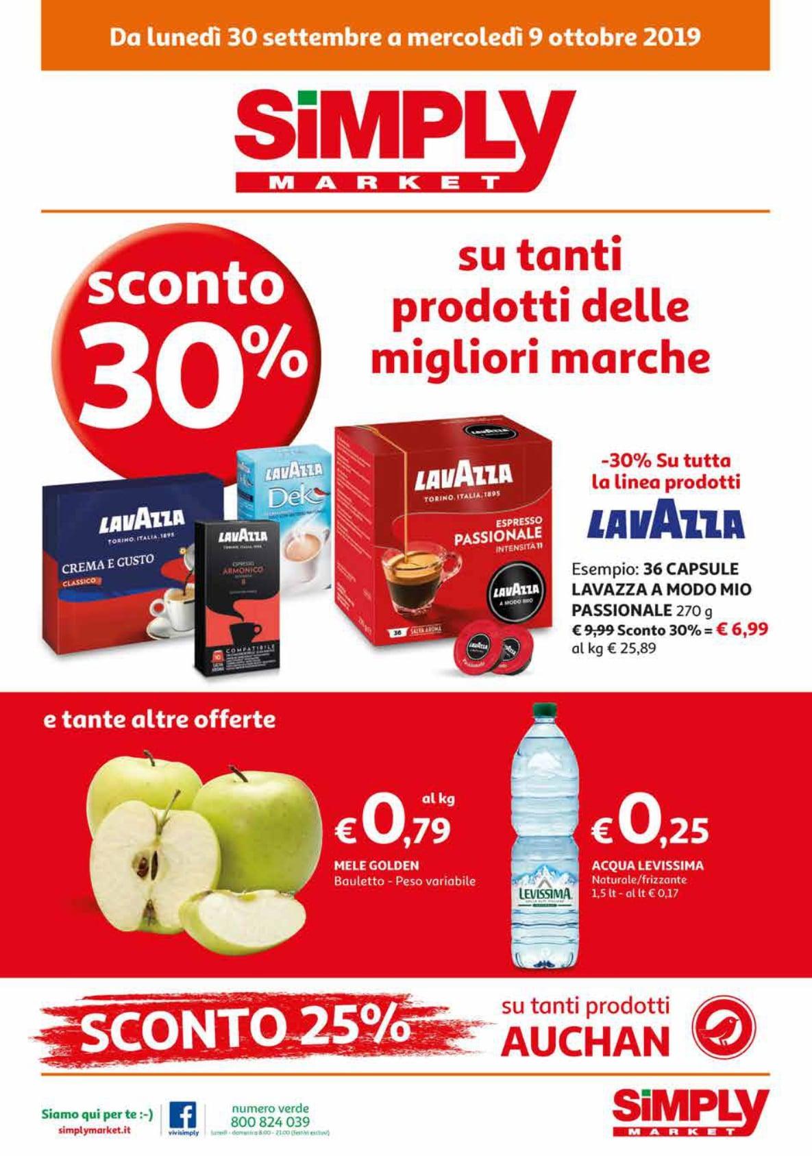 Volantino Simply Market 30 Settembre - 9 Ottobre 2019