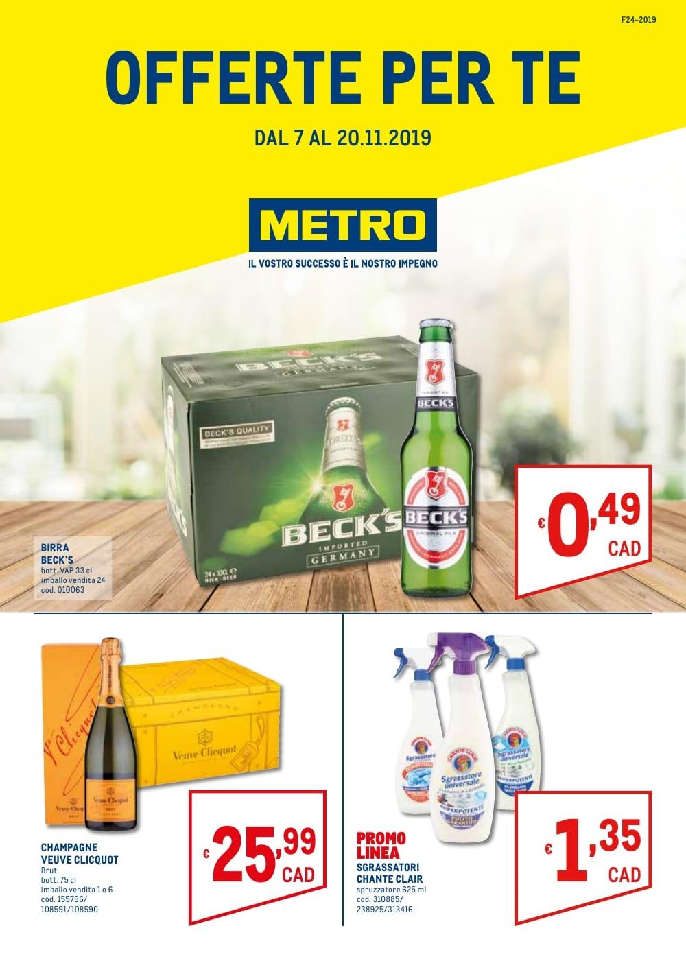 Volantino Metro 7 Novembre - 20 Novembre 2019