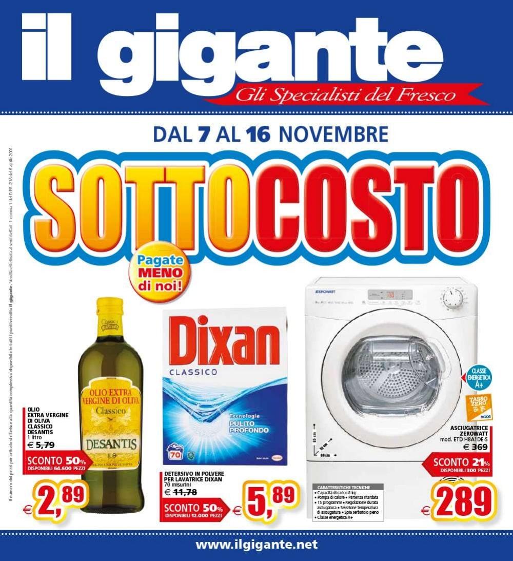 Volantino Il Gigante 7 Novembre - 16 Novembre 2019