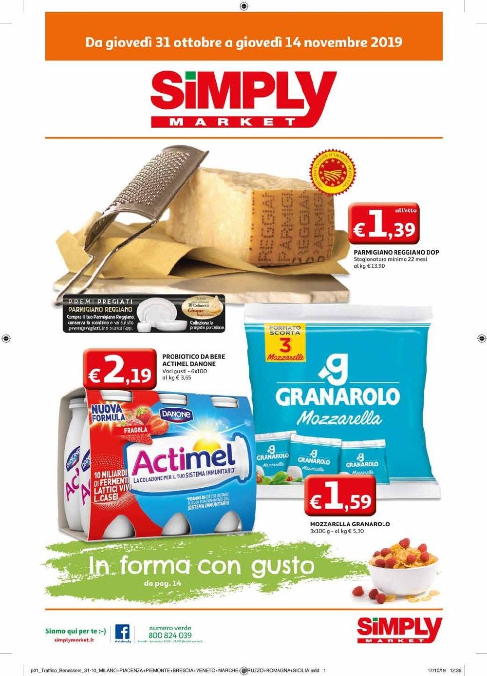 Volantino Simply Market 31 Ottobre - 14 Novembre 2019