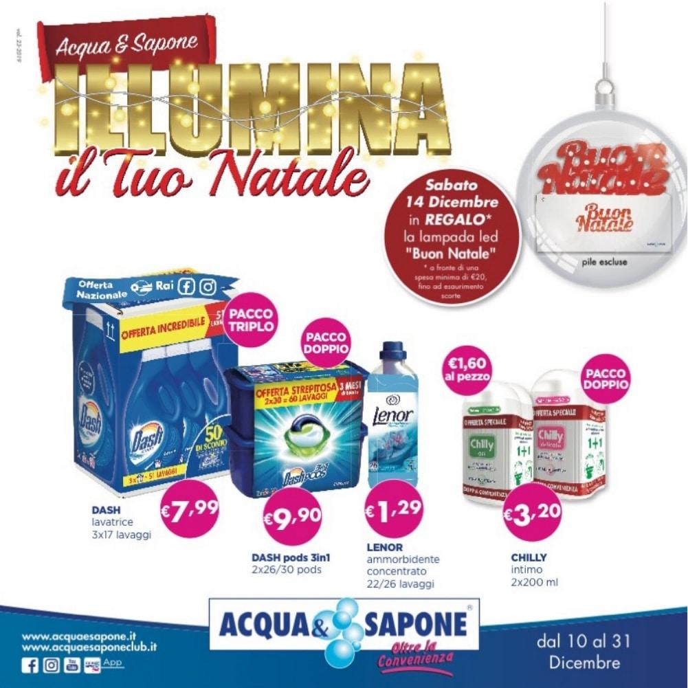 Volantino Acqua & Sapone 10 Dicembre - 31 Dicembre 2019