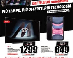 Volantino Media World Black Friday 19 Novembre - 30 Novembre 2020