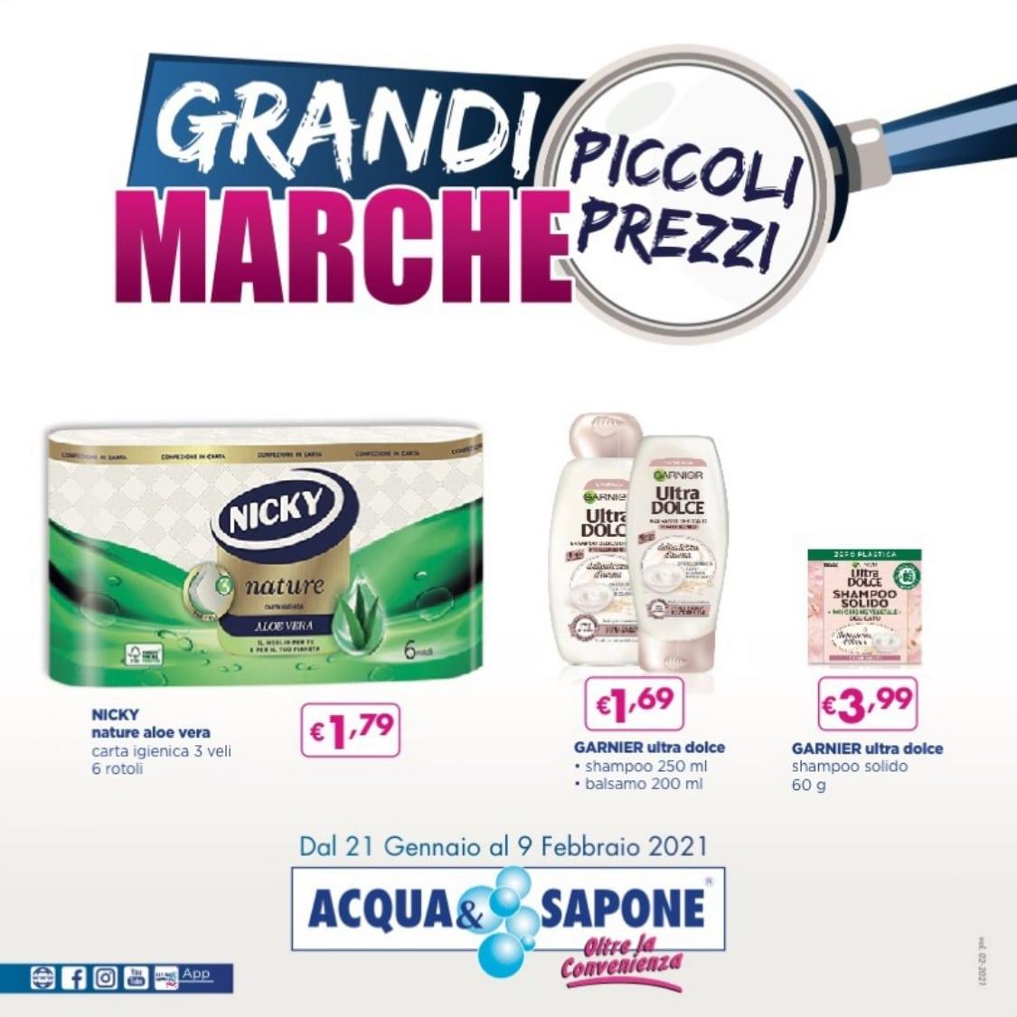 Volantino Acqua & Sapone 21 Gennaio - 9 Febbario 2021